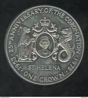 1 Crown Saint Helene / Saint Helena - CC Coronation 1978 - Monnaies