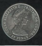 25 Pence Tristan Da Cunha - CC Queen Mother 1980 - Monnaies