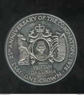 1 Crown Tristan Da Cunha - CC Coronation 1978 - Monnaies