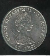 25 Pence Saint Helene / Saint Helena - CC Wedding 1981 - Monnaies