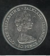 50 Pence Falkland Islands / Iles Malouines - CC Queen Mother 1980 - Monnaies