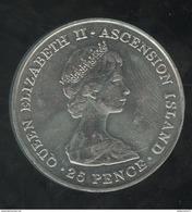 25 Pence Ile De L'Ascension / Ascension Island - CC Wedding 1981 - Ascensione
