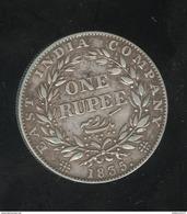 One Rupee East India Company 1835 TTB - Colonies