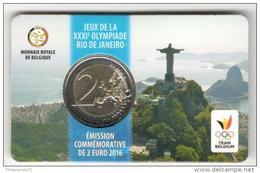 Coincard 2 Euros Belgique 2016 Jeux De Rio - Belgium