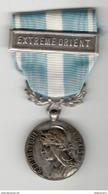 """Médaille De L'Outre-Mer Avec Barette """"  Extrème Orient """" - France"""