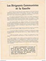 """Tract Gaulliste """" Les Dirigeants Communistes Et La Gauche """" - Mai 68 - Non Signé - Afiches"""