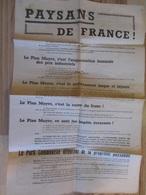 Affiche La Conférence Nationale Paysanne Du Parti Communiste Français 27 Janvier 1948 Plan Mayer - Historische Documenten