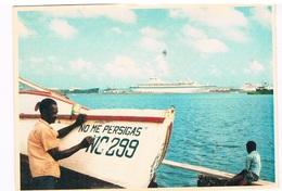 SCH-827   CURACAO With Cruiseship - Dampfer