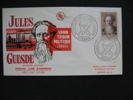 FDC 1957     N° 1113  Jules Guesde   à Voir - 1950-1959