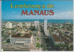 BRASIL  LEMBRANCA DE MANAUS AM  VISTA PARCIAL DA CIDADE COM O RIO NEGRO AO FUNDO   USED NICE STAMP - Manaus