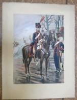 PIERRE ALBERT LEROUX - L'armée Française - Garde - Belle Planche Rehaussée Aux Coloris -  1930 - 32 Cm * 24 Cm - Books, Magazines  & Catalogs