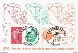 FRANCE 2012 BLOC PREMIER ANNIVERSAIRE COURRIER RAPIDE OBLITERE - F4687 - F 4687 -- - Sheetlets