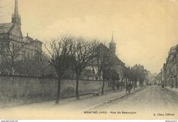 CPA  - Montbéliard - Rue De Besançon - Circulé 1908 - Montbéliard