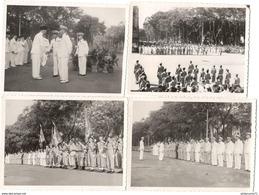 Lot 4 Photos Originales Format 9 X 12 Cm - Prise D'Arme à Saïgon Du 3 Novembre 1953 - Dokumente