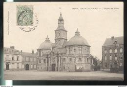 CPA Saint Amand Les Eaux - L'Hôtel De Ville - Circulée - Saint Amand Les Eaux