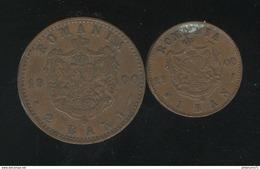 Lot 1 Et 2 Bani Roumanie 1900 TTB - Roumanie