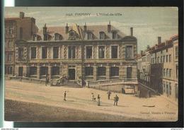 CPA Colorisée Fiminy - L'Hotel De Ville - Circulée - Firminy