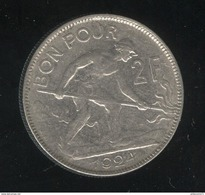 2 Francs Luxembourg / Luxemburg 1924 TTB - Luxembourg