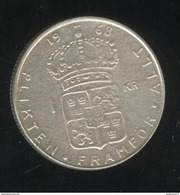 1 Couronne Suède / Sweden 1968 Gustav VI - TTB+ - Suède