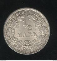 1/2 Mark Allemagne / Gemany 1915 D - TTB+ - [ 2] 1871-1918 : German Empire