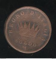 1 Soldo Italie / Italy 1813 M - Napoleone Imperatore E Re - TB+ - Temporary Coins