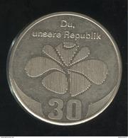 """Médaille """"Du Unsere Republik 30"""" 1979 Allemagne De L'est / East Germany  - TTB+ - Duitsland"""