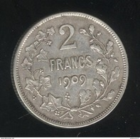 2 Francs Belgique 1909 - Léopold II Roi Des Belges - TTB+ - 1865-1909: Leopold II