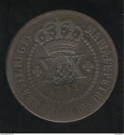 40 Réis Sur 20 Réis Brésil 1781 - Surfrappe 1809 - Brésil