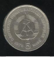 5 Mark Allemagne De L'est / East Germany 1972 - TTB+ - [ 6] 1949-1990 : RDA - Rép. Démo. Allemande