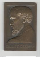 Plaque Claude Debussy - 1932 - Frappée à L'occasion De L'érection Des Monuments De Paris Et St Germain En Laye - France