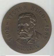 Médaille Uniface Victor Hugo - Cercle Du Bibliophile - Professionals / Firms