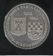 Médaille Commémorative 10ème Anniv. Jumelage De Louhans - Kirchheimbolanden - 1986 - France