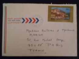 Polynesie Française Lettre De Papeete 1976 Pour Paris - Polynésie Française