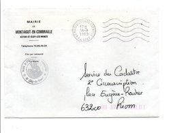 LETTRE DE MAIRIE DE MONTAIGUT EN COMBRAILLE PUY DE DOME - Marcophilie (Lettres)