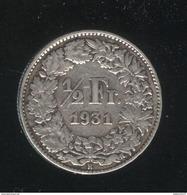 1/2 Franc Suisse / Switzerland 1931 TTB+ - Suisse