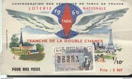 Billet De Loterie - 1/10ème Tranche De La Double Chance - 1960 - Billets De Loterie