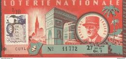 Billet De Loterie - 1/10ème Général Leclerc - 1959 - Comptoir Kling - Billets De Loterie