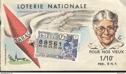 Billet De Loterie - 1/10 Pour Nos Vieux - 1960 - Confédération Des Débitants De Tabac - Billets De Loterie