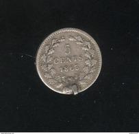 5 Centimes Pays Bas / Nederland 1863 - Monté En Broche - [ 3] 1815-… : Royaume Des Pays-Bas