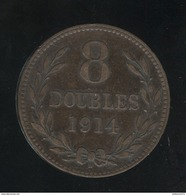 8 Doubles Guernesey 1914 TTB+ - Guernsey