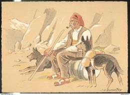 CPSM Edition Barré Et Dayez - Illustrateur Bonnefoy - Croquis Régionaux : Le Vieux Contrebandier  - 1299Y - Other Illustrators