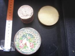 Ancienne Boite En Carton LOT Avec Miroir Et CHROMO OISEAUX Old Box Vintage - Boxes