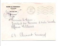 LETTRE DE MAIRIE DE ROMAGNAT PUY DE DOME - Storia Postale