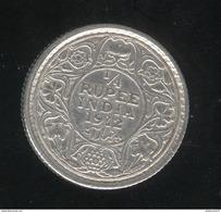 1/4 Roupie Inde / India 1912 TTB - Inde