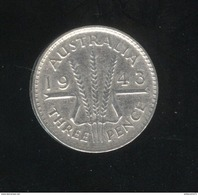 3 Pence Australie 1943 TTB - Sterling Coinage (1910-1965)