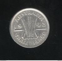 3 Pence Australie 1943 TTB - Monnaie Pré-décimale (1910-1965)