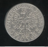 5 Zlotys Pologne 1934 TTB - Pologne