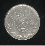 50 Centesimos 1943 Uruguay TTB - Uruguay