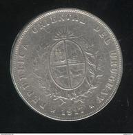 50 Centesimos 1917 Uruguay TTB - Uruguay