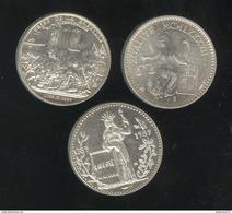 Lot De 3 Jetons MDP Commémoration De La Révolution De 1789 - France
